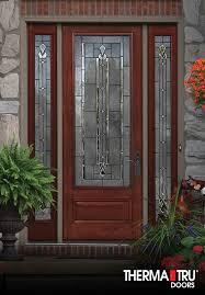 fiberglass entry doors with glass therma tru doors sedona decorative glass other doors