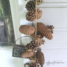 pinecone garland diy pine cone garland cottage in the oaks