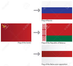 Russian Flag With Hammer And Sickle A Set Of Flags Soviet Union Belarus Russia Opposition Of