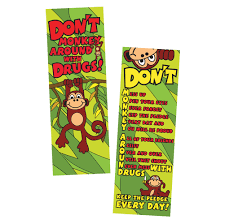 monkey ribbon ribbon week don t monkey around with drugs bookmark