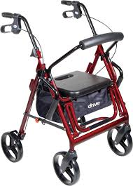 senior walkers with seat duet transport wheelchair rollator walker drive