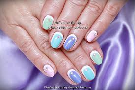 gelish spring pastels with swarovski crystals funky fingers factory