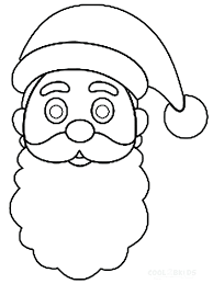 hat coloring pages kids santa claus reindeer picture free