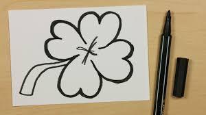 how to draw a lucky clover cloverleaf or shamrock easy cartoon