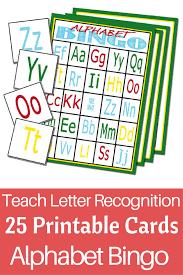 printable alphabet recognition games fun way to teach kids their abcs alphabet bingo 25 cards
