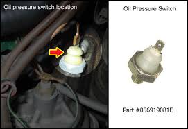 vwvortex com 1990 vw cabriolet oil pressure light sensor issue