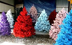 colorful artificial trees design by treetopia home