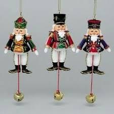 vintage wood pull string jumping santa ornament