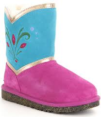 s elsa ugg boots ugg disney elsa coronation color blocked boots dillards