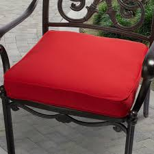 Patio Furniture Seat Cushions Indoor Outdoor 20 Inch Solid Traditional Chair Cushion With