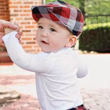 Rugged Boy Red Black And White Driver U0027s Cap For Baby Boys