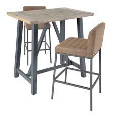 industrial bar table and stools industrial bar table reclaimed breakfast bar curiosity interiors