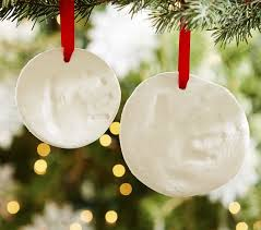 glitter print ornaments pottery barn