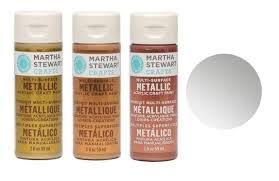 martha stewart acrylic metallic paint craft select your color ebay