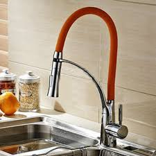 kitchen sink faucet chrome kitchen sink faucet with leather pull out