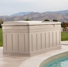 furniture extra large 129 gallon suncast deck box for pool best
