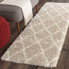 Beige Runner Rug Safavieh Montreal Shag Collection Sgm831c Beige And