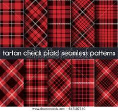 check vs plaid set tartan check plaid seamless pattern stock vector 647107540