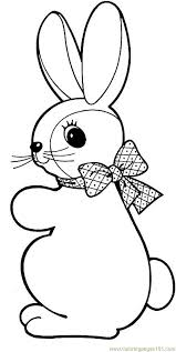easter bunny coloring free easter bunnies coloring pages