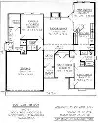 3 Bedroom 2 Bathroom House Plans Home Design 1 Story 3 Bedroom Bath House Plans Decorating Ideas