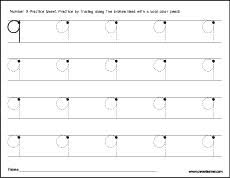 number nine writing counting and recognition activities for children