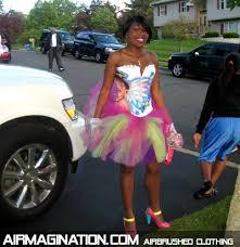 custom spray paint shirts airbrushed prom dress custom airbrush prom dance clothing