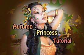 autumn princess halloween tutorial youtube