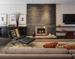 Living Room Design Brick Wall White Modern Arch Lamp Dark Finish Hardwood Bun Foot Orange Tulips