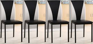 Black White Dining Chairs 4x Faux Leather Dining Chairs Available In Black Black