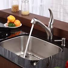 kitchen faucets stainless steel pull out stainless steel kitchen sink combination kraususa com