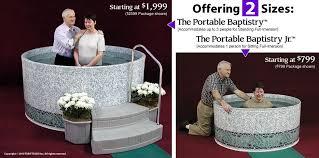 baptism pools portable 1 6 8 stop sermons