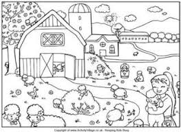 spring scene coloring pages coloring
