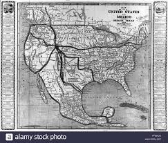 Map Of Texas And Mexico by America And Mexico 1846 Namerican U0027map Of The United States And