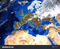 Map North Africa by Europe North Africa Map View Space Stock Illustration 434222914