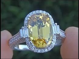 sapphire rings ebay images Vvs1 clarity 6 53 carat yellow sapphire diamond ring estate jpg