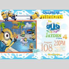 minion birthday party invites minion pool birthday bash invitation minions invitation scott u0027s