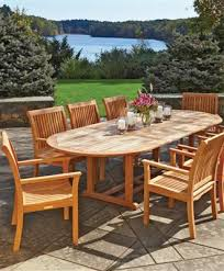 teak patio table with leaf teak outdoor furniture from walpole woodworkers