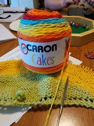 becca u0027s crazy projects big knitting with caron cakes