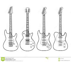 electric guitars isolated on white stock vector image 26754260