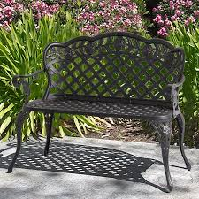 Cast Aluminum Patio Furniture Patio Garden Bench Cast Aluminum Outdoor Garden Yard Solid