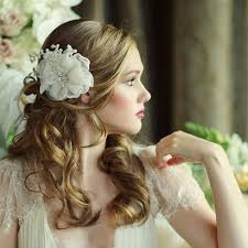 hair flower organza wedding hair flower verena zaphira bridal