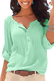 mulisky womens casual v neck blouses long sleeve button up shirts