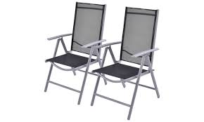 Patio Folding Chair Set Of 2 Patio Folding Chairs Adjustable Reclining Indoor Outdoor