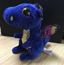 amazon ty beanies boos beanie boo blue dragon saffire 6