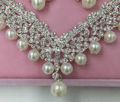 crystal choker necklace set images 2016 fashion crown tiara imitation pearls plated crystal choker jpg