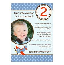 polka dot blue photo boy birthday invitation card