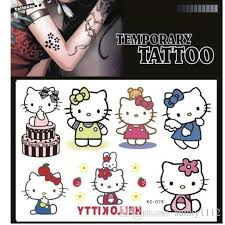 kids temporary tattoos colorful hello kitty tattoos sticker