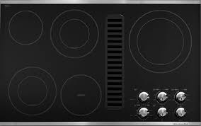 Kitchenaide Cooktop Modern And Chic Downdraft Cooktops From Kitchenaid