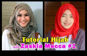 tutorial hijab paris zaskia tutorial hijab pashmina ala zaskia mecca 1