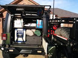 cj jeep interior jk rear storage ideas